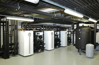 Strojovna s tepelnými čerpadly IVT a chladícími moduly VESKOM CM