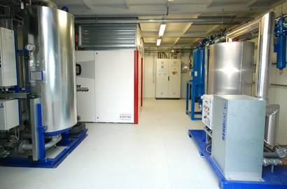 Hotová kompresorová stanice –celkový pohled