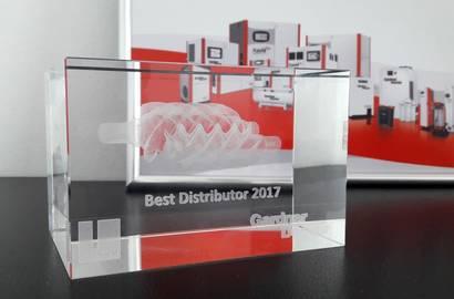 "Certifikát ""Best Distributor 2017"""