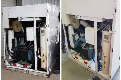 Kompresor pred servisom vs. po servisu